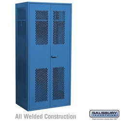 Military TA-50 Storage Cabinet - 78 Inches High - 24 Inches Deep - Blue