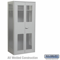 Military TA-50 Storage Cabinet - 78 Inches High - 24 Inches Deep - Gray