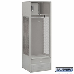 Open Access Standard Metal Locker - 6 Feet High - 24 Inches Deep - Gray