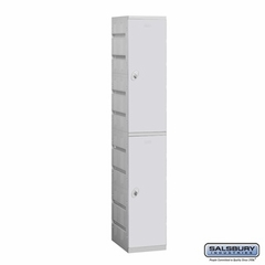 Plastic Locker - Double Tier - 1 Wide - 73 Inches High - 18 Inches Deep