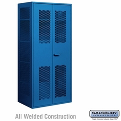 Salsbury Military Combination Storage Cabinet - Blue
