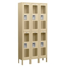 See-Through Double Tier Lockers