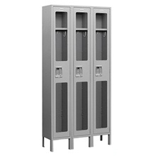 See-Through Single Tier Lockers