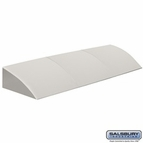 Sloping Hood for Plastic Lockers - 3 Wide - Dark Gray