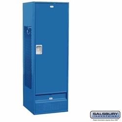Standard Gear Metal Locker - Solid Door - 6 Feet High - 24 Inches Deep - Blue