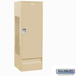 Standard Gear Metal Locker - Solid Door - 6 Feet High - 24 Inches Deep - Tan