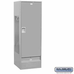Standard Gear Metal Locker - Standard Door - 6 Feet High - 24 Inches Deep - Gray