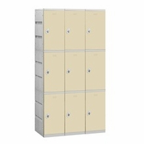 Plastic Lockers - Triple Tier
