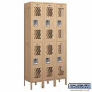 Vented Double Tier Lockers