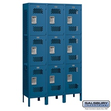 Vented Triple Tier Lockers