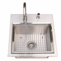 Deluxe 304 Stainless Steel Sink for Outdoor Kitchens by FLO Grills™