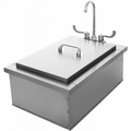"""Pacific Stainless Steel Sink / Insulated Ice Bin 15""""x 24"""""""