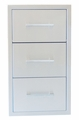 Signature Series 17-inch Beveled Frame Paper Towel Double Drawer Combo
