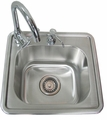Sunstone Single Sink with Hot and Cold Water and Soap Dispenser