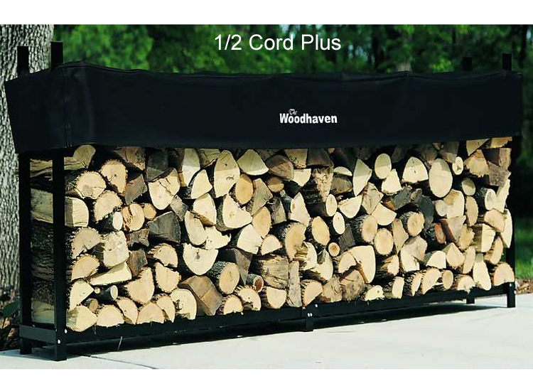 Woodhaven 1 2 Cord Plus Firewood Rack With Cover