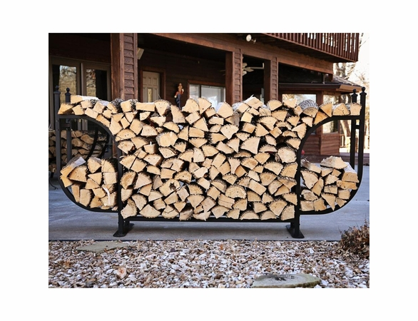1/2 Cord Woodhaven Courtyard Large Firewood Rack