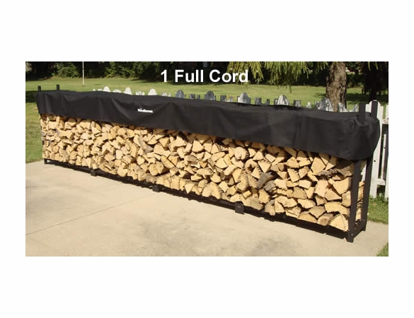 1 Cord (16 Ft) Woodhaven Firewood Rack With Cover