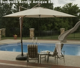 10' Square Santorini II Umbrella with bronze base