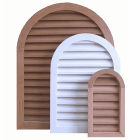 """10 x 36 Arched """"Tombstone"""" Gable Vent"""