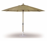Three Birds 11 Ft Teak Umbrella with Crank Lift