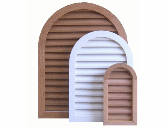 """18 x 48 Arched """"Tombstone"""" Gable Vent"""