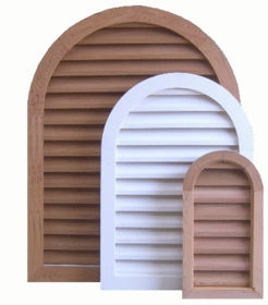 "18 x 48 Arched ""Tombstone"" Gable Vent"