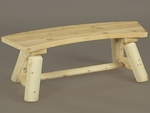 3' Curved Log Style Bench