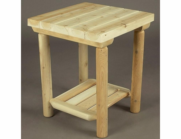 """20"""" Log Style Side Table"""