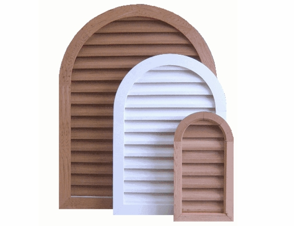 """22 x 48 Arched """"Tombstone"""" Gable Vent"""