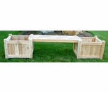 24 Inch Planter Box Bench Set