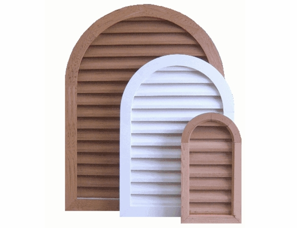 """24 x 36 Arched """"Tombstone"""" Gable Vent"""