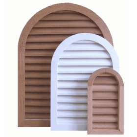 """24 x 48 Arched """"Tombstone"""" Gable Vent"""