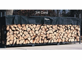 3/4 Cord (12 Ft) Woodhaven Firewood Rack With Cover