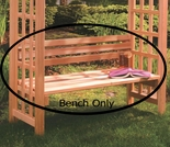 "42"" Cedar Bench Only for Arbor"