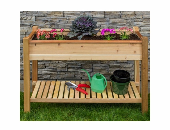 "45"" EZ Plant Cedar Elevated Garden Planter"