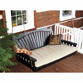 Fan Back Swing Bed - 4', 5' or 6'