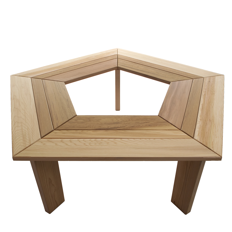 five sided tree surround bench kit