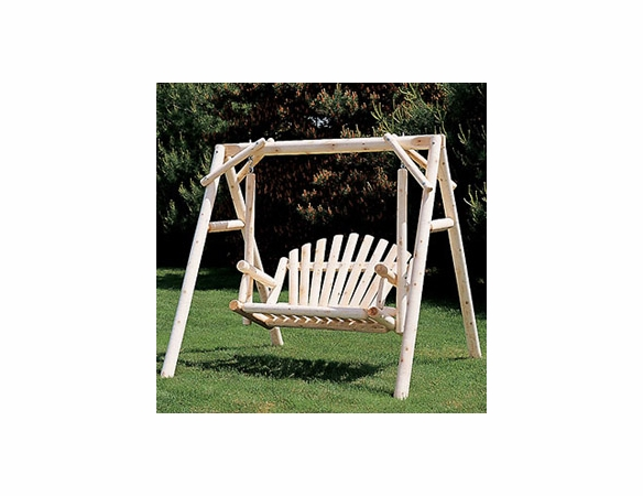 5ft American Log Garden Swing Set