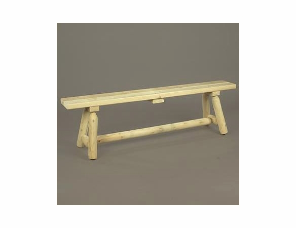 6' Log Style Backless Bench
