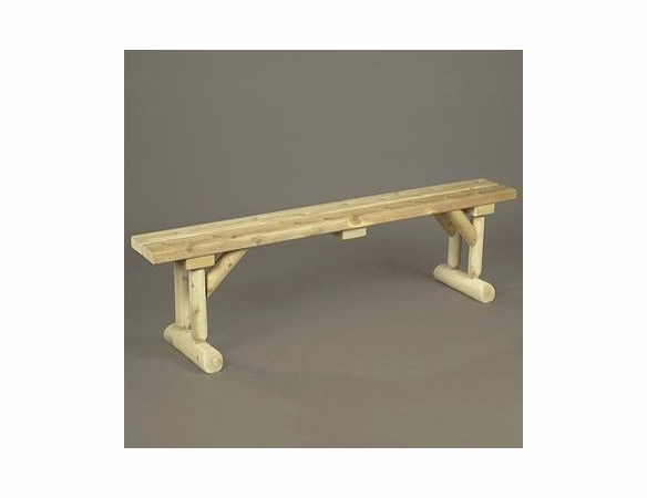 6' Log Style Dining Bench - Not Currently Available