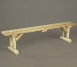 6' Log Style Dining Bench