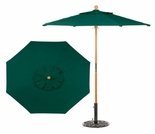 Oxford Garden 6' Octagonal Market Umbrella - Wood Pole - Optional Sunbrella Fabric