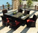 "72"" Rectangular Wicker Forever Patio 7 Pc Capistrano Dining Set"
