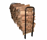 8' Ornamental Scroll Firewood Rack
