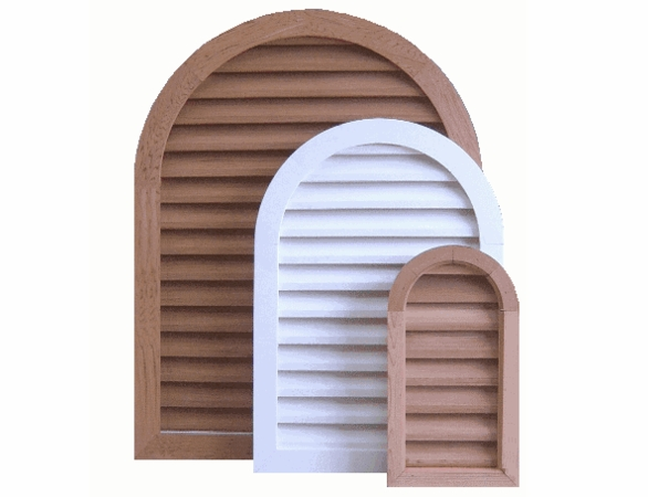 """8 x 18 Arched """"Tombstone"""" Gable Vent"""