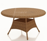 "84"" Oval Wicker Forever Patio Catalina Dining Table with Glass"