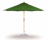 Three Birds 9 Ft Teak Umbrella with Pully Lift