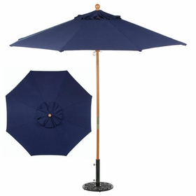 Oxford Garden 9' Octagonal Market Umbrella - Wood Pole - Optional Sunbrella Fabric