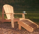 Adirondack Chair and Footrest Set - Cedar