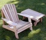 Adirondack Chair and Table Set - Cedar American Forest